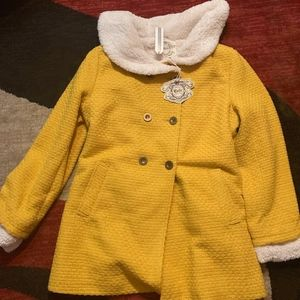Anthropologie NWT Tulle Mustard Peacoat